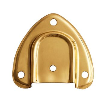 Restorers Stamped Brass Trunk Handle Cap