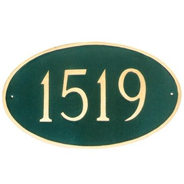 LARGE OVAL PERSONALIZED ADDRESS PLAQUE