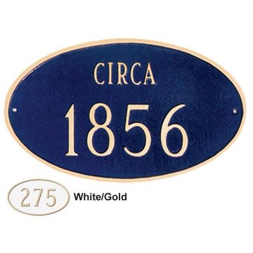 HISTORICAL OVAL PERSONALIZED PLAQUE