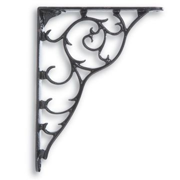 Restorers 6 x 8 Vine Iron Shelf Bracket