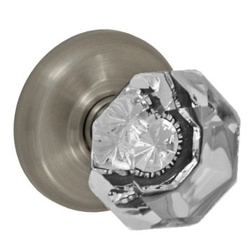 RADIUS 2 3/8 PASSAGE SET WITH GLASS KNOB