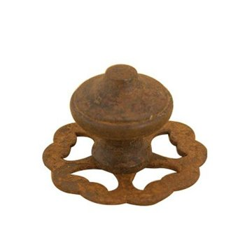 Restorers Rustic Iron Cabinet Knob with Backplate