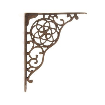 WEATHERED BRZE CIRCLE & STAR SHELF BRACKET
