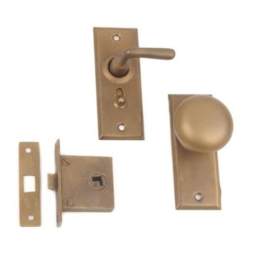 Restorers Knob To Lever Screen Door Lock Set
