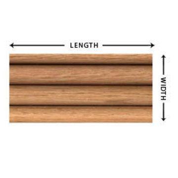 Oak Custom Beveled Hoosier Tambour