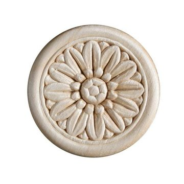 Round Heat Embossed Flower Applique - 2 Inch or 4 Inch