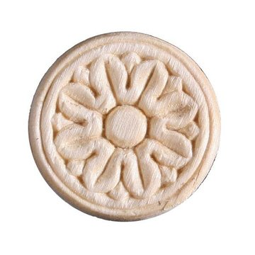 1 3/4 Inch Round Heat Embossed Flower Applique