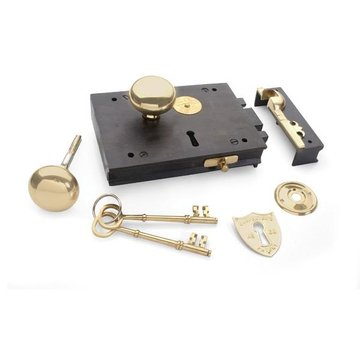 CARPENTERS RIM LOCK SET WITH KNOBS