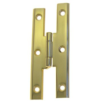 Restorers Classic Lacquered Brass H Style Cupboard Hinge
