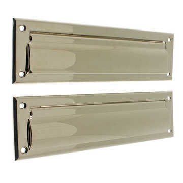 MAIL SLOT WITH FLAP ON BACKPLATE
