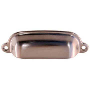 Restorers Classic 1 1/4 Inch x 3 3/4 Inch Brass Cup Bin Pull