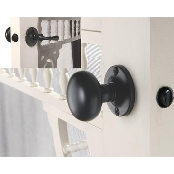 BLK IRON STORM DOOR LOCK- SET