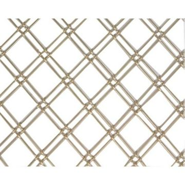Kent Design 114 1/4F 1 Double Round Flat Crimp Wire Grille - 18 x 48