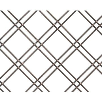 Kent Design 114 1/4F 1 Double Round Flat Crimp Wire Grille - 18 x 24