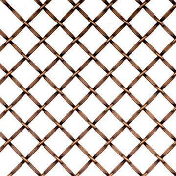 Kent Design 1214F 1/2 Round Flat Crimp Wire Grille - 36 x 48