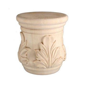 Legacy Signature 4 Inch Carved Bun Foot - Acanthus Leaf