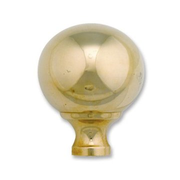 Restorers Classic Brass Cannonball Finial