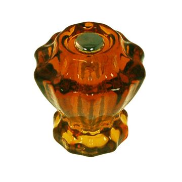 FLUTED GLASS KNOB - 1 1/4 DIAM