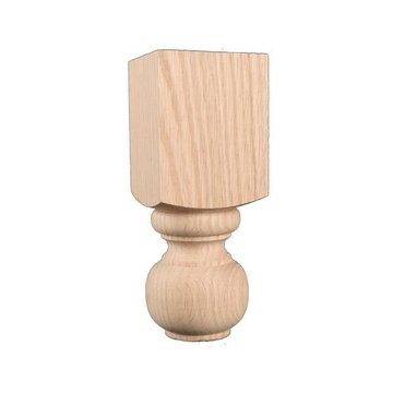 7 Inch Furniture Leg With Block
