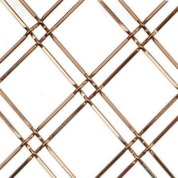 Kent Design 114 1/4F 1 Round Flat Crimped Wire Grille - 16 x 42