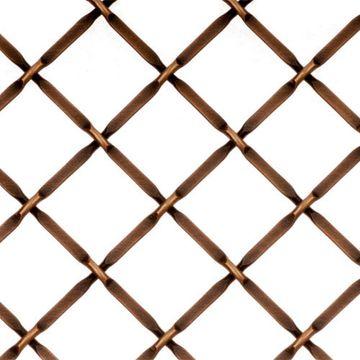 Kent Design 332P 3/4 Round Press Crimp Wire Grille - 16 x 42