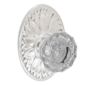 OVAL FLORAL DUMMY DOOR SET WITH SCALLOP KNOB