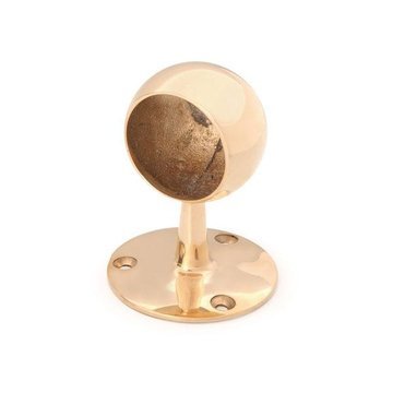 2 SOLID BRASS BALL END CAP