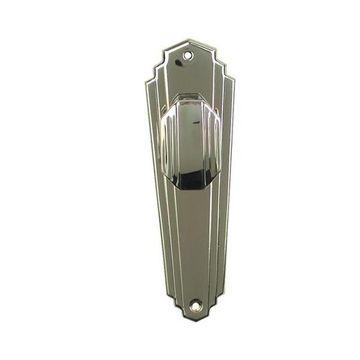 Restorers Art Deco Passage Door Set - Nickel Finish