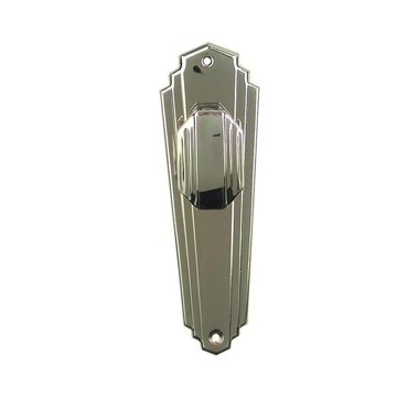Restorers Art Deco Passage Door Set - Nickel Finish