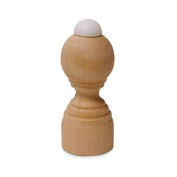Oak Door Stop with Bumper - 3 3/8 Inch