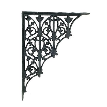 GOTHIC ARCHES W/IVY DESIGN SHELF BRACKETS