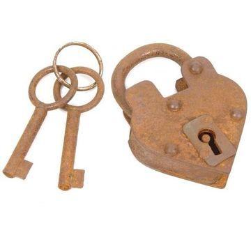 RUSTY STEEL V PADLOCK W.2 KEYS 3 H X 2 1/4 W