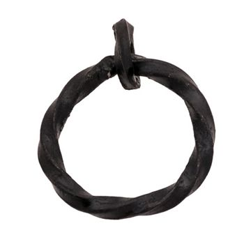BLK IRON HAND FORGED 2 RING PULL