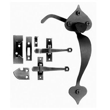 Acorn Gate Latch Set With Thumblatch