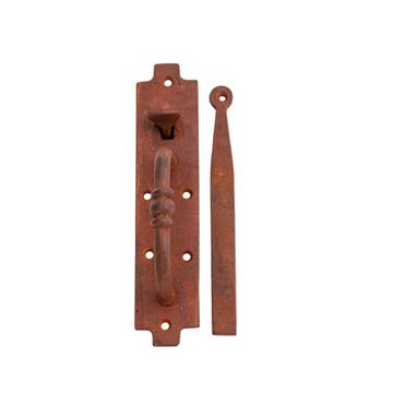 Restorers Primitive Iron Gate Latch Set with Thumblatch Handle