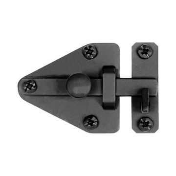 ARROWHEAD CABINET LATCH BLACK IRON