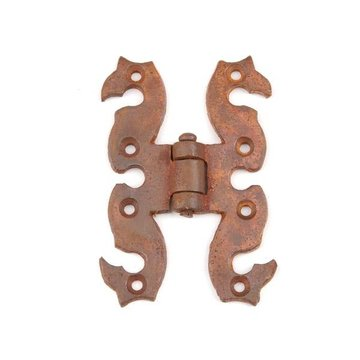 RUSTED & WAXED IRON HINGE 3 5/8 H X 2 5/8W