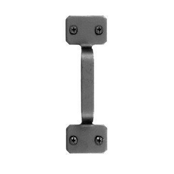 Acorn Black Iron Square Pull
