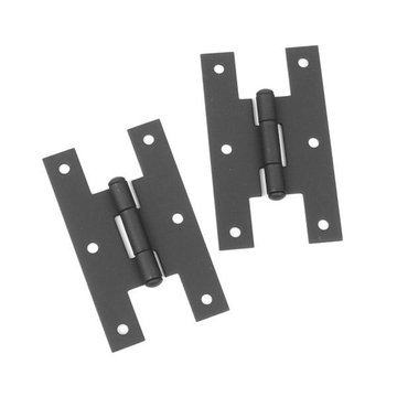 3 H-HINGE/FLUSH BLACK IRON