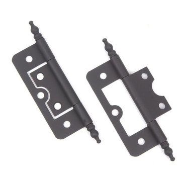 BLACK IRON NON-MORTISE  BUTT HINGE