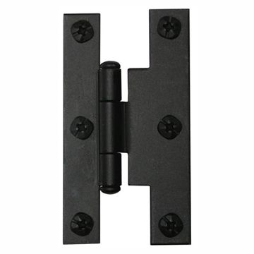 3/8 OFFSET H HINGE  BLACK IRON