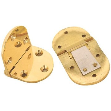 BUTLER TRAY HINGE-3 PAIR POL BRASS 6MM THICK