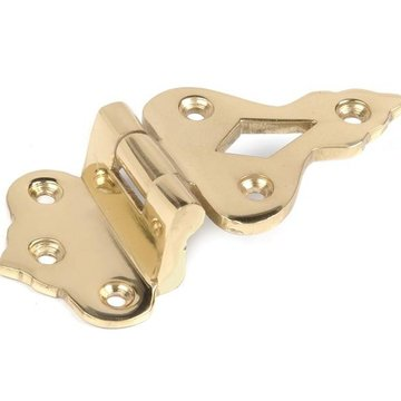 Restorers 1/2 Inch Solid Brass Offset Icebox Hinge