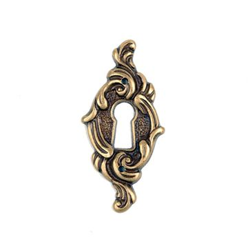 Classic Hardware Vertical Keyhole Escutcheon - Antique Brass