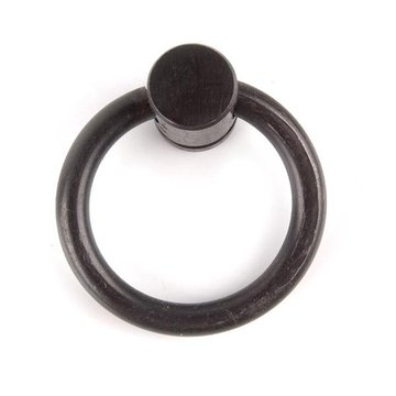 Restorers Black Wrought Iron Ring Pull