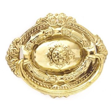 Restorers Classic Brass Victorian Oval Bail Pull