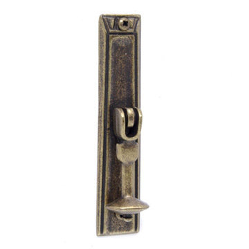 Vintage Drop Pull with Rectangular Backplate