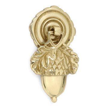 Restorers Brass Acorn Drop Pull