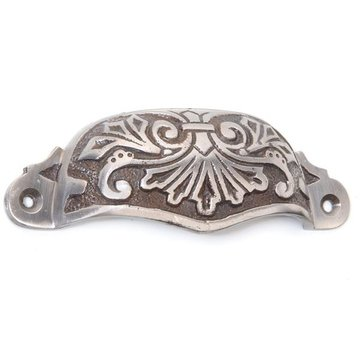 Restorers Polished Cast Iron Ornate Bin Pull