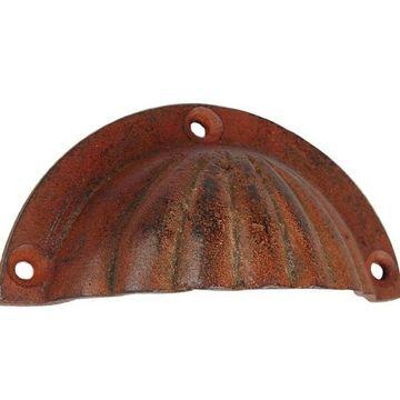 Restorers Scalloped Texture Rusty Bin Pull
